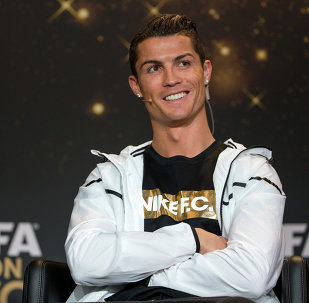 FIFA Ballon d'Or nominee Cristiano Ronaldo of Portugal and Real Madrid attends a press conference prior to the FIFA Ballon d'Or Gala 2014 at the Kongresshaus on January 12, 2015 in Zurich, Switzerland