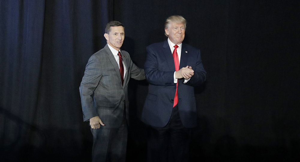 Retired Gen. Michael Flynn and  Donald Trump (File)