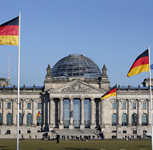German flags wave in front of the Reichstag building, host of the German Federal Parliament Bundestag, in Berlin, Germany. (File)