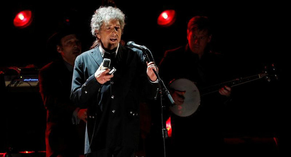 Singer Bob Dylan in Los Angeles January 12, 2012