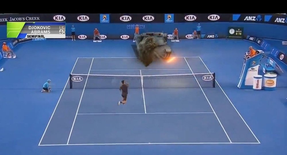 Tennis with М1 Abrams