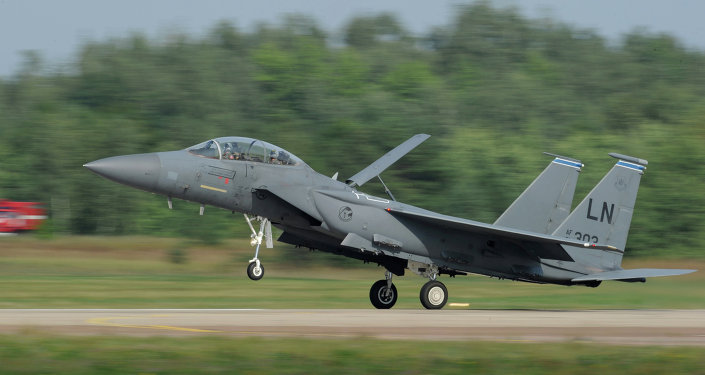 US McDonnell Douglas F-15 Eagle twin-engine and all-weather tactical fighter