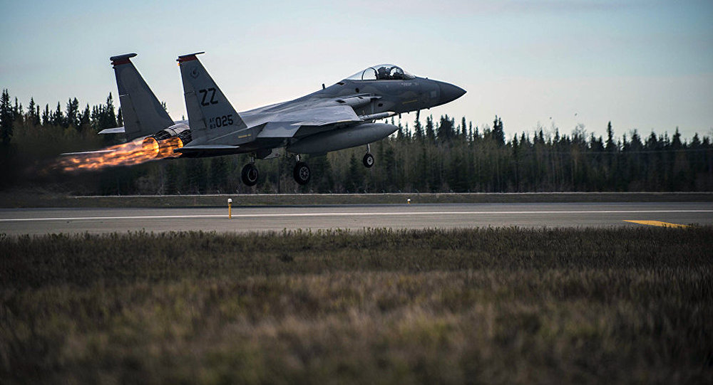 U.S. Air Force F-15 Eagle tactical fighter jet