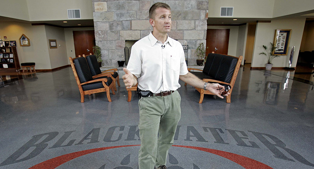 In a July, 21, 2008 file photo, founder and CEO of Blackwater Worldwide Erik Prince is seen at Blackwater's offices in Moyock, N.C. Holland, Mich. native Erik Prince will be talking about his west Michigan roots at a Tulip Time Festival luncheon on Wednesday May 5, 2010