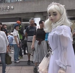 Live Doll Lulu Hashimoto On The Streets Of Tokyo