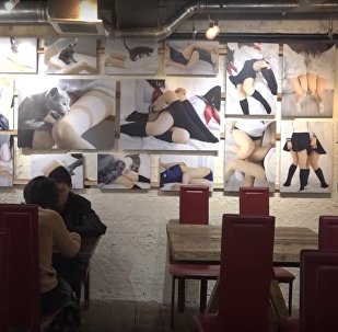 Female Thigh-Themed Café