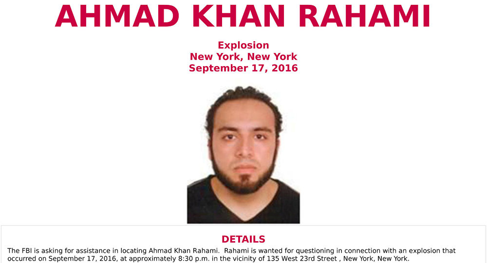 An image of Ahmad Khan Rahami, who is wanted for questioning in connection with an explosion in New York City, is seen in a a poster released by the Federal Bureau of Investigation (FBI)