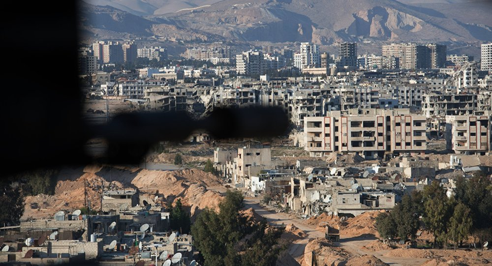 Jobar, a district of Damascus controlled by Jabhat al-Nusra militants