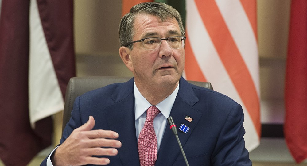 US Secretary of Defense Ashton Carter hosts defense ministers of the Global Coalition to Counter ISIL at Joint Base Andrews in Maryland, July 20, 2016