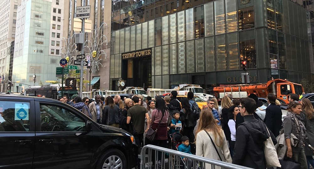 Trump Tower, GOP presidential nominee Donald Trump's unofficial headquarters, has been barricaded with the New York City Department of Sanitation trucks with sand in order to minimize damage from potential terrorist attacks, TMZ online outlet reported